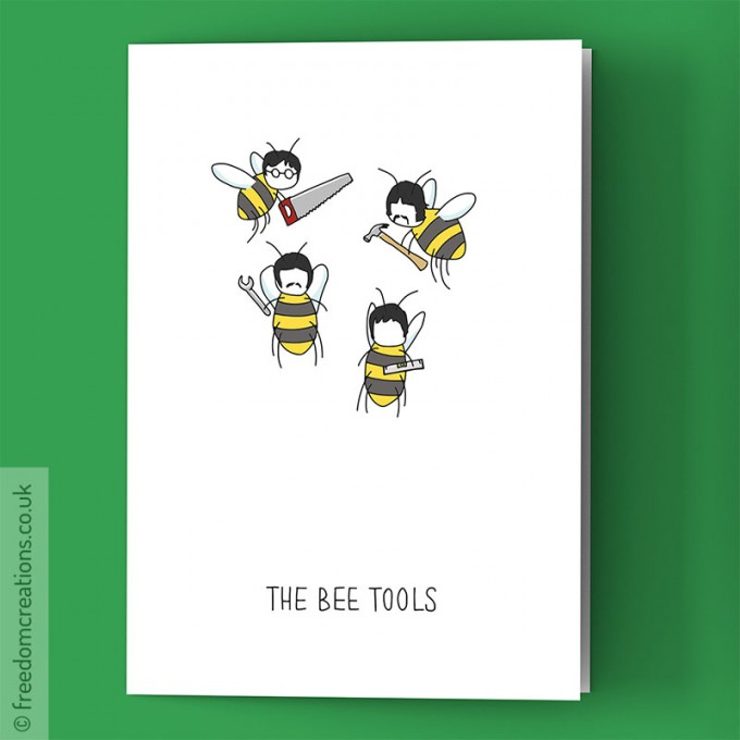 The bee tools greeting card the beatles singbat by pello the bee tools m4hsunfo