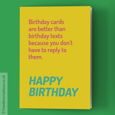 Anti-Social Birthday Card