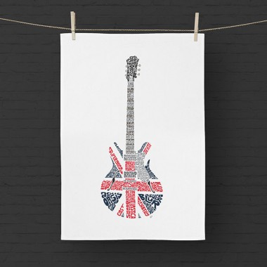 Britpop Guitar Tea Towel