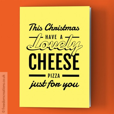 A lovely cheese pizza, just for you